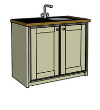 Door only sink unit   - Click here to view this product