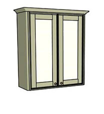 Double door only - glass - Click here to view this product