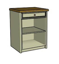 Drawer & open shelf  - Click here to view this product