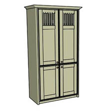 Double spindle larder cupboard - Click here to view this product