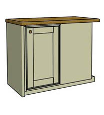 Right hinged corner unit - Click here to view this product