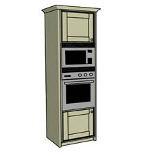 Single oven & microwave housing - Click here to view this product