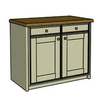 Double drawer & door  - Click here to view this product