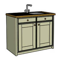 Door & drawer sink unit - Click here to view this product