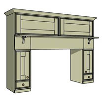 Fire surround with cupboards - Click here to view this product