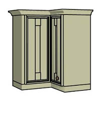 Double hinged corner - Click here to view this product